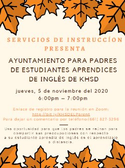 Parent Town Hall Flyer for English Learners